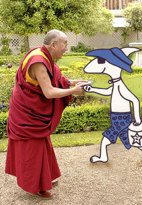 The Dahli Lama and Pug